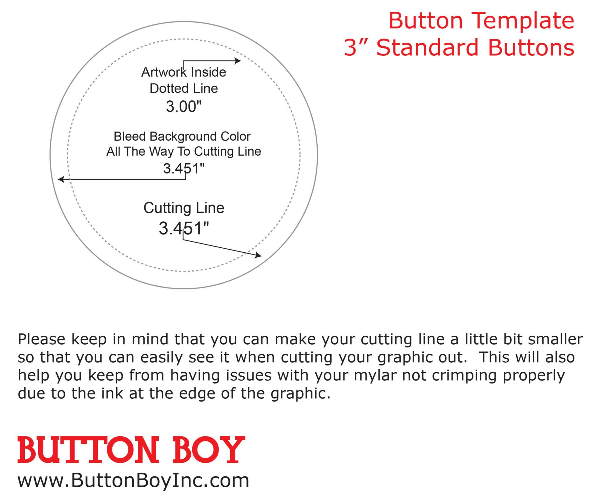 3 Inch Button Template Fancy 1 25 Photo Example